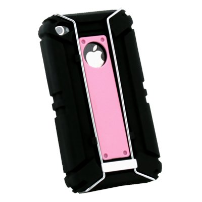 Pink Sports Type Protective Silicone Armor Case for Apple iPhone 4 4G