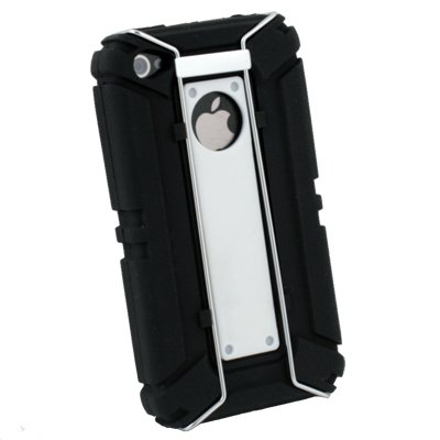 White Sports Type Carry Protect Silicone Armor Case for Apple iPhone 4 4G