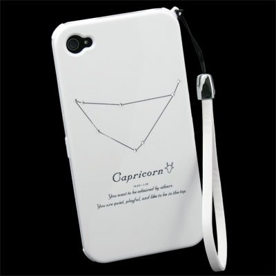 Crystals Constellations Shell Case for iPhone 4 Capricornus