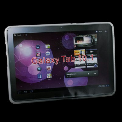 Clear TPU Skin Cover Case For Samsung Galaxy Tab 10.1