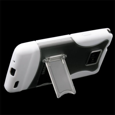 White Stand Hard Case Cover for SAMSUNG GALAXY S2 i9100