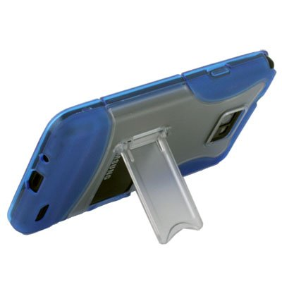 For SAMSUNG GALAXY S2 i9100 Blue Stand Case Cover