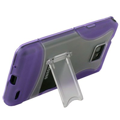 For SAMSUNG GALAXY S2 i9100 Purple Stand Case Cover