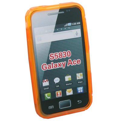 TPU Gel Skin Case Cover for Samsung S5830 (Orange)