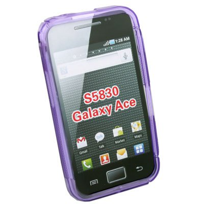 Purple TPU Skin Case Cover For Samsung S5830 Galaxy Ace