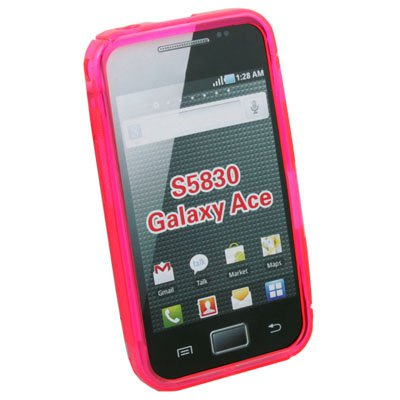 For Samsung S5830 Galaxy Ace TPU Gel Case Cover (Pink)