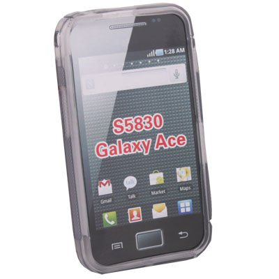 For Samsung S5830 Galaxy Ace TPU Skin Case Cover (Gray)