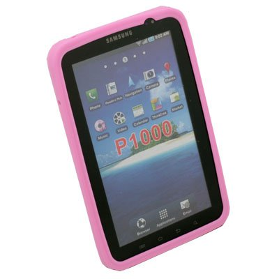 For Samsung Galaxy Tab P1000 Silicone Soft Skin Case Pink
