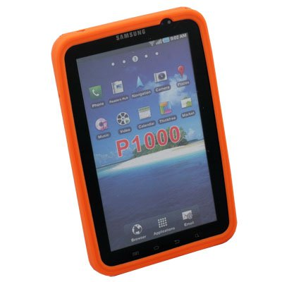 Orange Silicone Soft Case Cover for Samsung Galaxy P1000