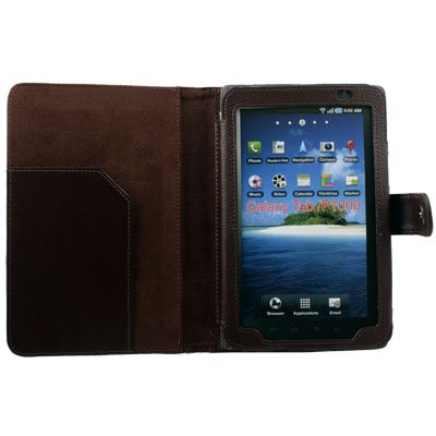 Brown Leather Case Cover for Samsung Galaxy Tab P1000