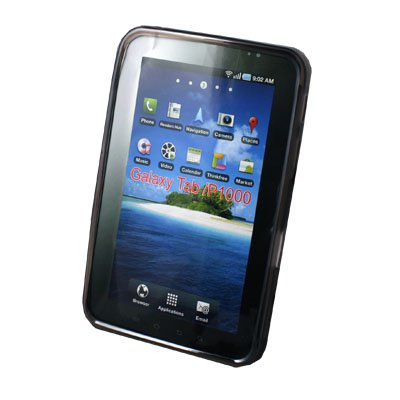 For Samsung P1000 Galaxy Tab TPU Gel Skin Case Black