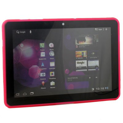 Pink TPU Gel Case for Samsung Galaxy Tab 10.1 GT-P7510