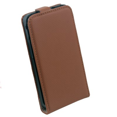 For Samsung i9100 PU Leather Skin Case Pouch Bag Brown#6790#