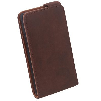Coffee PU Leather Case for Samsung i9100