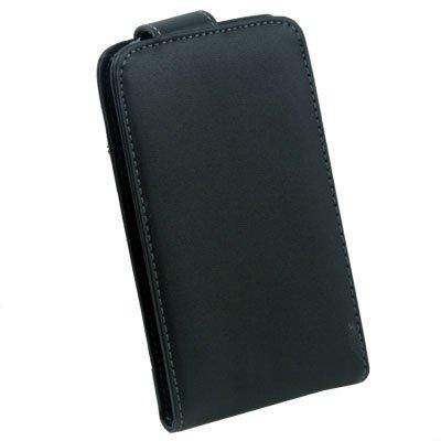 For Samsung i9000 PU Leather Case Black