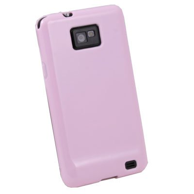 Pink Glossy TPU Skin Case For Samsung Galaxy S2 i9100