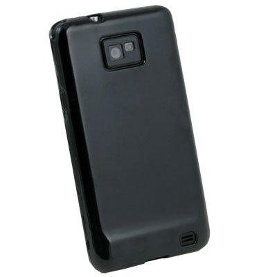 Black Glossy TPU Skin Case for Samsung Galaxy S2 i9100