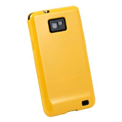 For Samsung Galaxy S2 i9100 Glossy TPU Skin Case (Yellow)