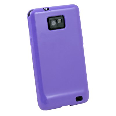 Purple TPU Skin Hard Case Cover for Samsung Galaxy S2 i9100