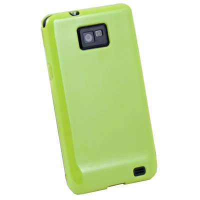 For Samsung Galaxy S2 i9100 Green Glossy TPU Skin Case