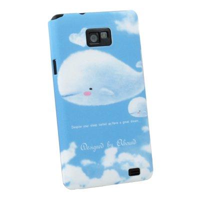 For Samsung i9100 Whale Pattern Hard Case Blue