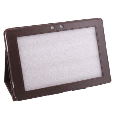 Stand Leather Case Cover for Asus Eee Pad 10.1 TF101 Brown