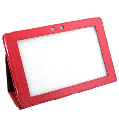 For Asus Eee Pad Transformer TF101 Leather Stand Case Red