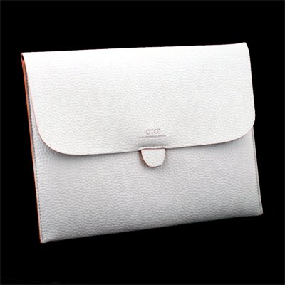 Leather Briefcase Case Pouch For Apple iPad 1/2 (White)