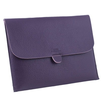 Briefcase Leather Case Pouch For Apple iPad 1/2 (Purple) #7221#