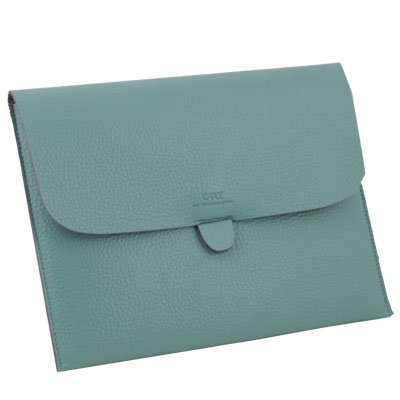 Turquoise Briefcase Leather Case Pouch For Apple iPad 1/2