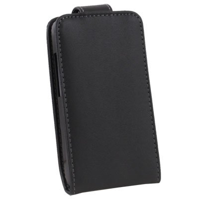 Flip PU Leather Pouch Case Cover for HTC Salsa G15 C510 Black