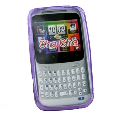 Purple Soft TPU Gel Silicone Back Case for HTC ChaCha G16