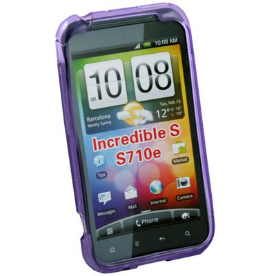 For HTC Incredible S S710E G11 S Curved GEL Case Cover (Purple)