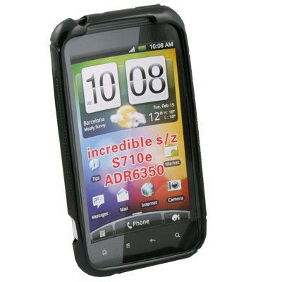 For HTC INCREDIBLE S S710 TPU Silicone Case Cover Black