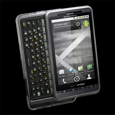 Clear Snap-on Cover TPU Rubber Case for Motorola Milestone 3 III XT883