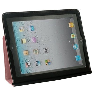Pink Ultra Slim Leather Case With Stand For iPad 2