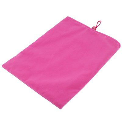 Pink Suede Fabric Sleeve Pouch Bag For iPad 2 & iPad