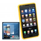 Yellow Glossy TPU Skin Case for Samsung Galaxy S2 i9100+SP