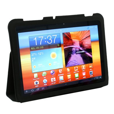 Black Samsung Galaxy Tab 8.9 P7300 P7310 Leather Case Cover Slim Smart Stand