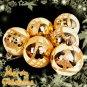 6 Shinning Big Balls Xmas Christmas Tree Decorations Ornament Gold