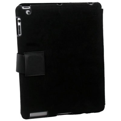 Black Macally Bookstand Case Stand for Apple iPad 2