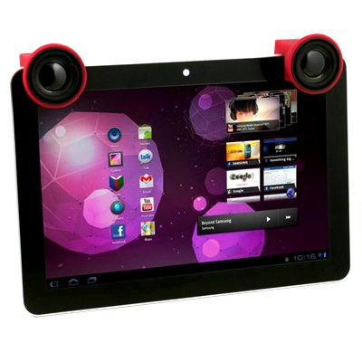 Red Portable Mini Audio Mobile Speaker for Samsung Galaxy Tab P7510 P7500 P7300 #7361#