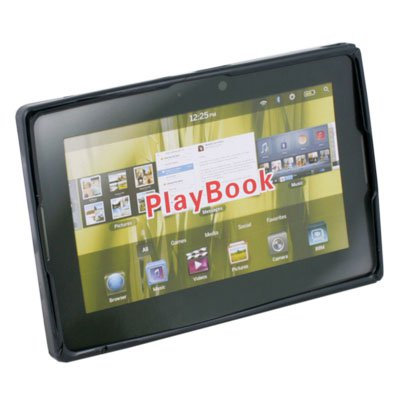 Clear Ripple Rubber Case for Blackberry Playbook Black