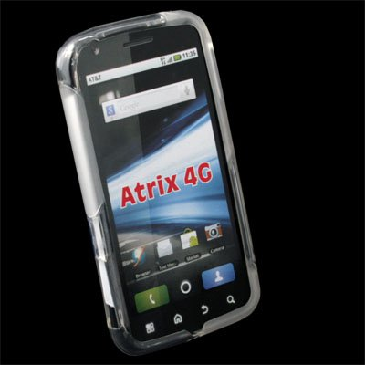 For AT&T Motorola Atrix 4G TPU Fusion Case Clear