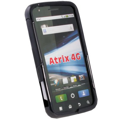 TPU Fusion Case for AT&T Motorola Atrix 4G Black