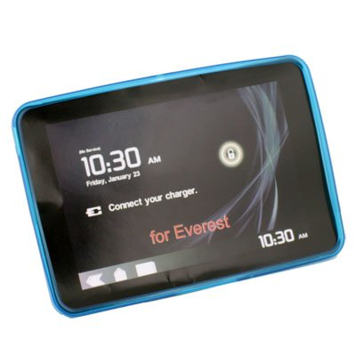 Soft Rubber Skin Case Cover Motorola Xoom Tablet (Blue)