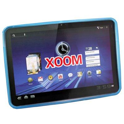 TPU Skin Cover Case for Motorola XOOM Tablet(Blue)