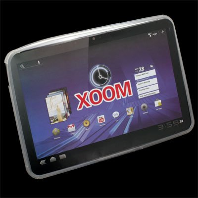 White TPU Skin Cover Case for Motorola XOOM
