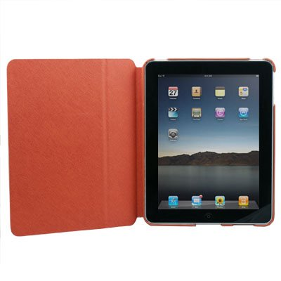 Orange Leather Flip Case Cover Leg Stand for Apple iPad