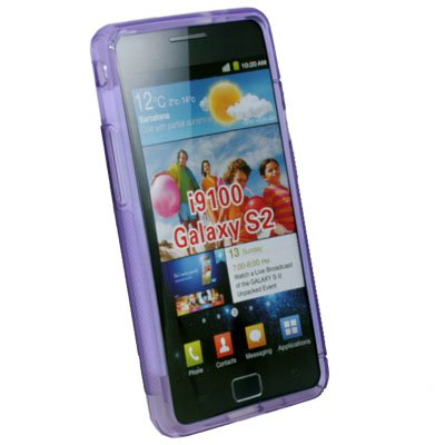 TPU Gel Skin Case Cover for Samsung Galaxy S II i9100(Purple)